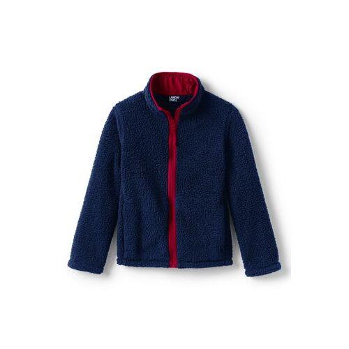 Lands' End Jacke aus Teddyfleece für kleine Kinder - Blau - 98/104 von Lands' End