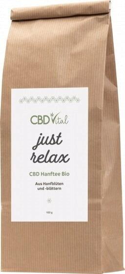 CBD-Vital just relax - CBD Hanftee Bio - 100 g
