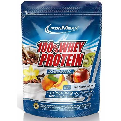 ironMaxx 100% Whey Protein  500 g Beutel - Apfel-Zimt