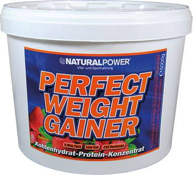 Natural Power Perfect Weight Gainer - Erdbeere