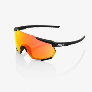 100% sportbrille racetrap soft tact black hiper red multilayer mirror lens + clear lens sto-61037-100-43