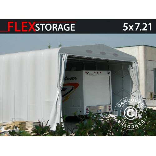 Dancover Lagerzelt Zeltgarage Garagenzelt Maxi Box, 5x7,21x3,76m, Grau