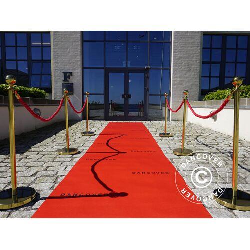 Dancover Roter Teppichläufer mit Aufdruck, 1,2x12m