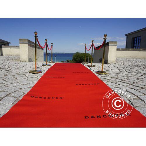 Dancover Roter Teppichläufer mit Aufdruck, 2,4x12m