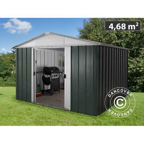 Dancover Geräteschuppen Metallgerätehaus 2,42x2,17x1,93m, Grün/Silber