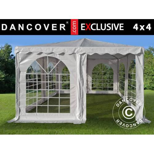 Dancover Pagodenzelt Exclusive 4x4m PVC, Weiß
