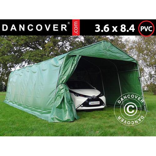 Dancover Zeltgarage Lagerzelt Garagenzelt PRO 3,6x8,4x2,68m PVC, Grün