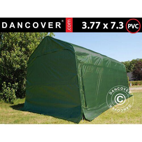 Dancover Zeltgarage Lagerzelt Garagenzelt PRO 3,77x7,3x3,18m, PVC, Grün