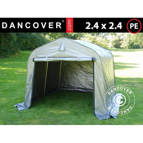 Dancover Lagerzelt Zeltgarage Garagenzelt PRO 2,4x2,4x2m PE, Grau