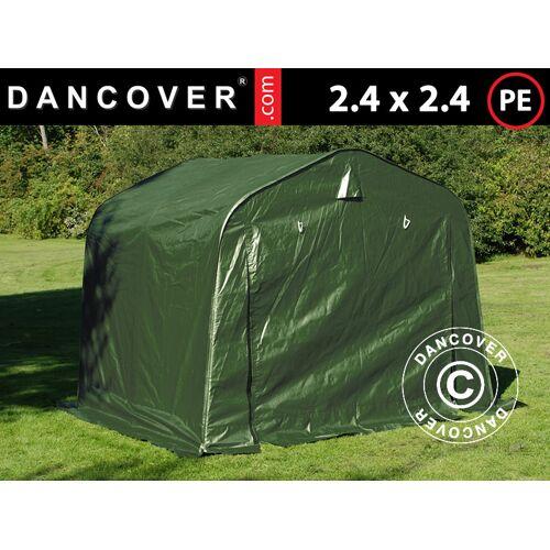 Dancover Lagerzelt Zeltgarage Garagenzelt PRO 2,4x2,4x2m PE, Grün