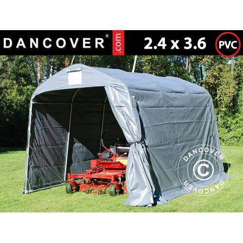 Dancover Lagerzelt Zeltgarage Garagenzelt PRO 2,4x3,6x2,34m PVC, Grau