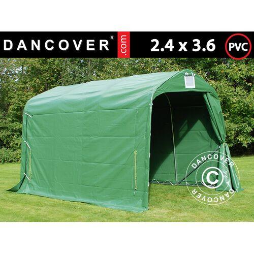 Dancover Lagerzelt Zeltgarage Garagenzelt PRO 2,4x3,6x2,34m PVC, Grün