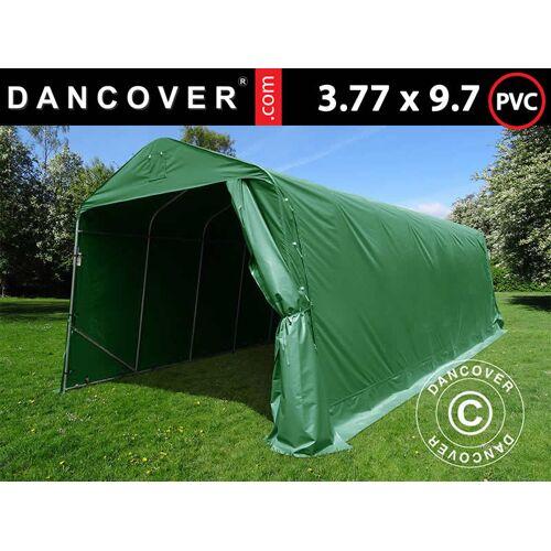Dancover Zeltgarage Lagerzelt Garagenzelt PRO 3,77x9,7x3,18m PVC, Grün