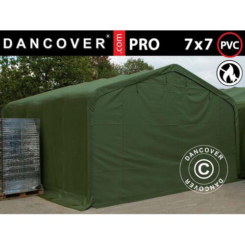 Dancover Lagerzelt Zeltgarage Garagenzelt PRO 7x7x3,8m PVC, Grün
