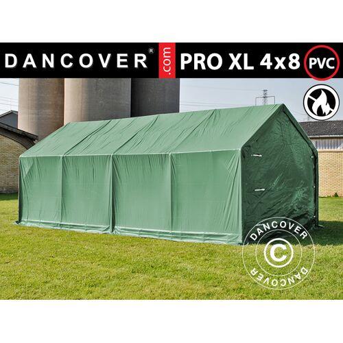 Dancover Lagerzelt Zeltgarage Garagenzelt PRO 4x8x2,5x3,6m, PVC, Grün
