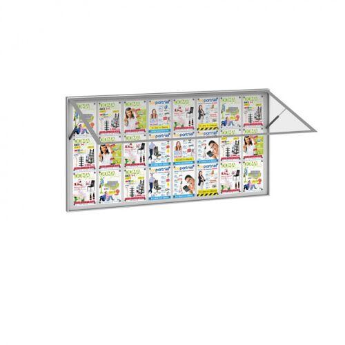 B2B Partner Außenvitrine mit klappfenster, 1800 x 1000 mm