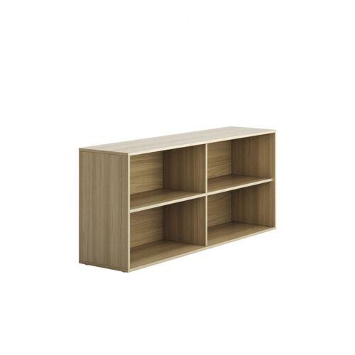 PLAN Niedriger schrank offen lang block wood