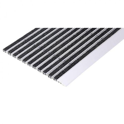 B2B Partner Reinigungsmatte mit anlaufkante, aluminium, pp-teppich