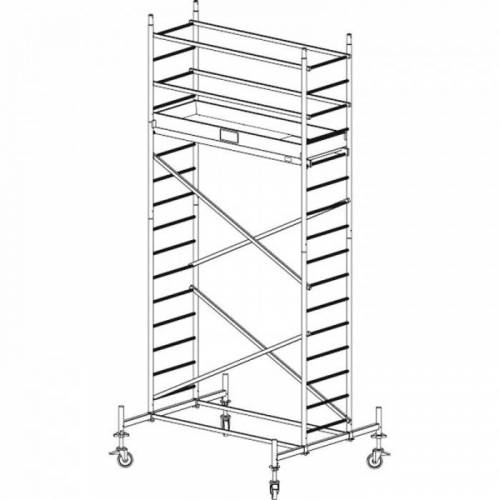 KRAUSE Mobiles alu-gerüst protec 5,3 m