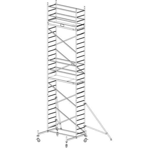KRAUSE Mobiles alu-gerüst protec 8,3 m