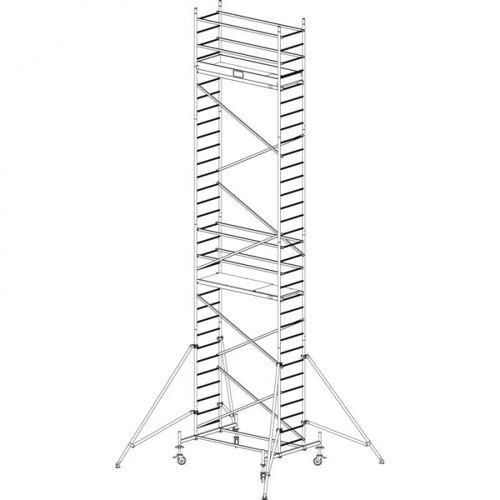 KRAUSE Mobiles alu-gerüst protec 9,3 m