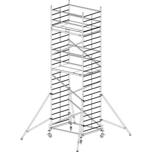 KRAUSE Mobiles alu-gerüst protec xxl 7,3 m