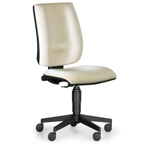 Antares Bürostuhl figo ohne armlehnen, dauerkontakt-rückenlehne, beige