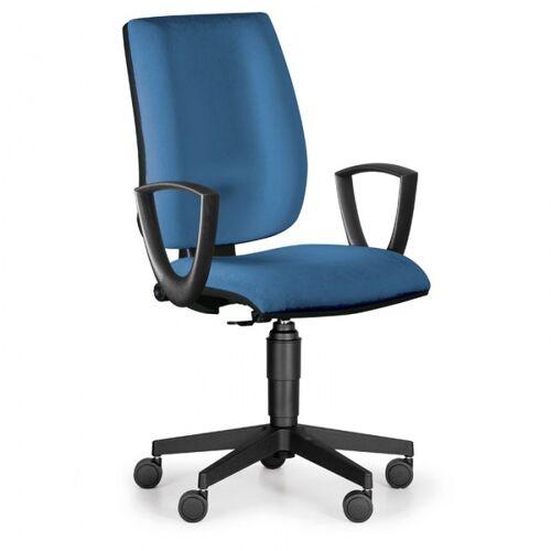 Antares Bürostuhl figo, dauerkontakt-rückenlehne, blau