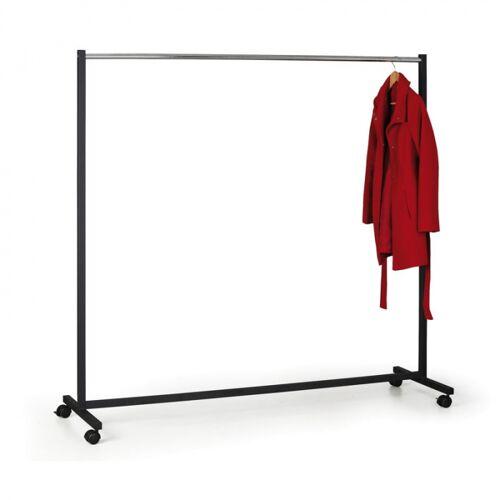 B2B Partner Mobiler kleiderständer, schwarz/chrom