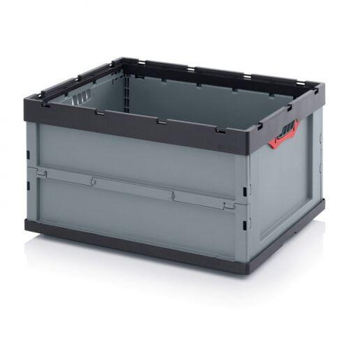 AUER Klappbare kiste, ohne deckel, 800 x 600 x 445 mm