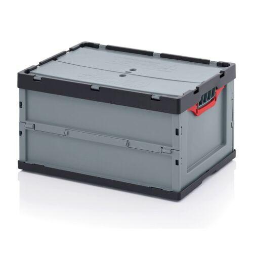 AUER Klappbare kiste, inkl. deckel, 600 x 400 x 320 mm