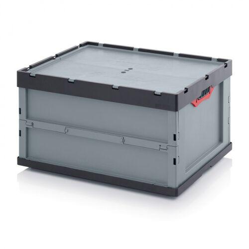 AUER Klappbare kiste, inkl. deckel, 800 x 600 x 445 mm