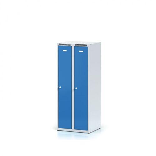 Alfa 3 Metallkleiderschrank, spind, höhe 1500 mm, blaue tür,