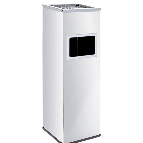 Alda Abfallbehälter mit ascher und innenbehälter, 22 liter, edelstahl matt