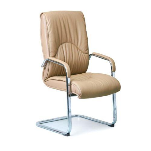 B2B Partner Freischwinger stuhl aus leder lux, beige