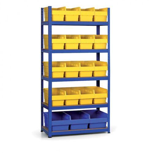 B2B Partner Regale mit kunstoffboxen 1800x900x400 mm, mdf fachböden, boxen 16x b,