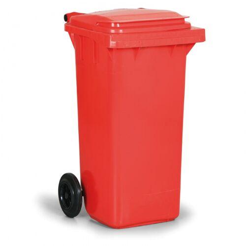 B2B Partner Kunststoffmülltonne 120 liter, rot