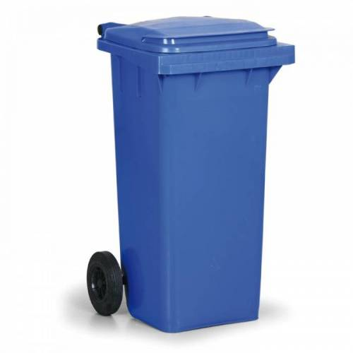 B2B Partner Kunststoffmülltonne 120 liter, blau