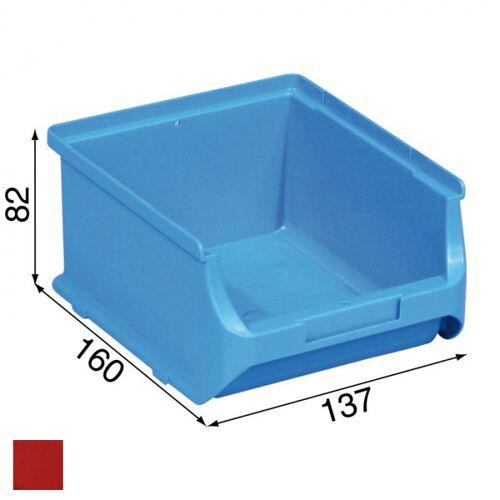 Allit Kunststoffboxen plus 2b, 137 x 160 x 82 mm, rot, 20 stk.