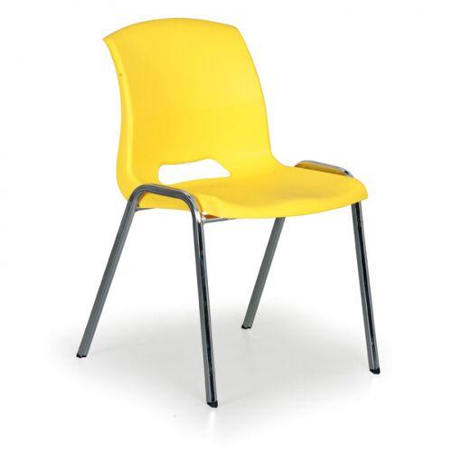 B2B Partner Stapelbarer stuhl cleo, gelb