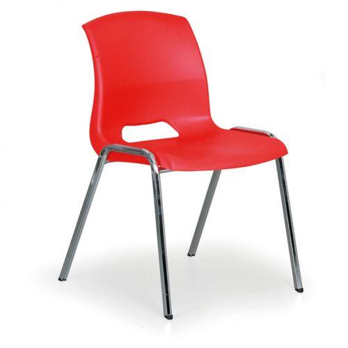 B2B Partner Stapelbarer stuhl cleo, rot