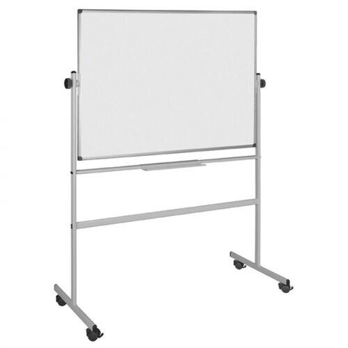 Bi-Office Zweiseitiges magnetisches whiteboard auf rollen, 1500 x 1200 mm