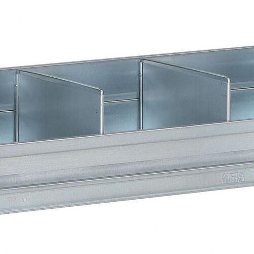 META Trennwand für die regale fix, clip, 400 mm