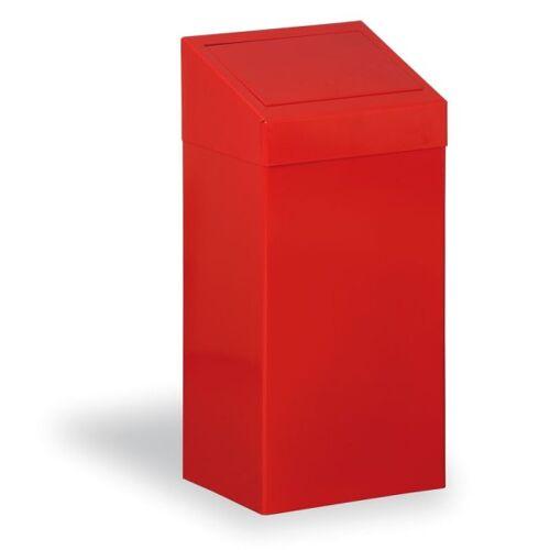 Kovona Metallmülleimer für sortierten abfall, 45 l, rot