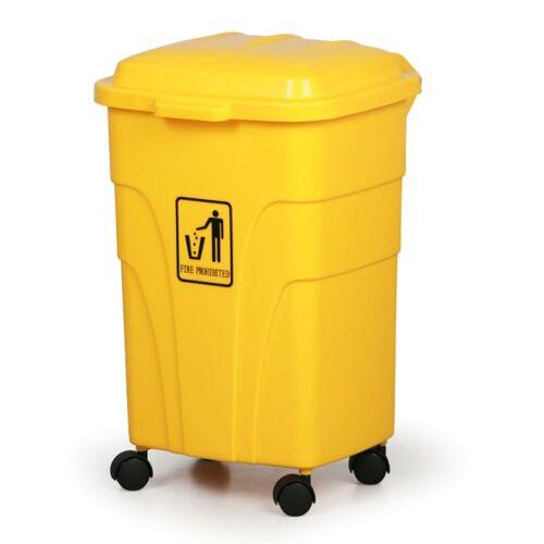 B2B Partner Mobiler mülleimer 70 liter, gelb