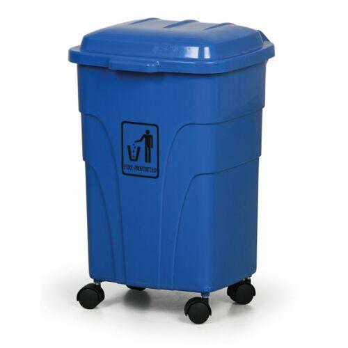 B2B Partner Mobiler mülleimer 70 liter, blau