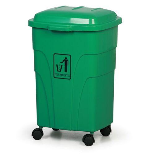 B2B Partner Mobiler mülleimer 70 liter, grün