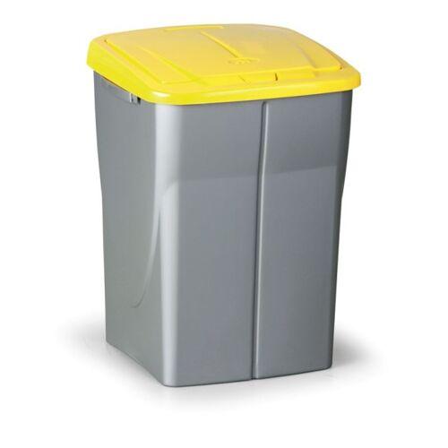 B2B Partner Mülleimer (b x t x h): 37 x 36,5 x 51,5 cm, 45 l, deckel: gelb
