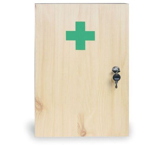 B2B Partner Holz-wandverbandskasten, 43 x 30 x 14 cm, fichte, ohne inhalt