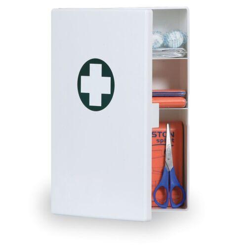 B2B Partner Kunststoff-wandverbandskasten für den arbeitsplatz, inhalt nach din